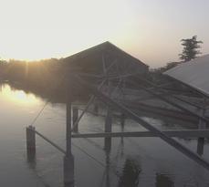 REC installation – Punjab canal top solar plants (Punjab, India)