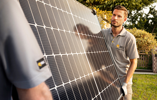 Premium REC solar panels for homes, business, and power plants, eligible for 25-year REC ProTrust warranty from REC Certified Solar Professional installers